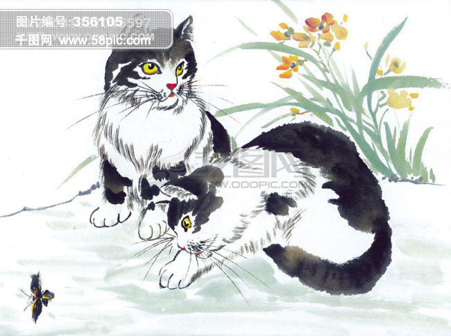 国画小猫的画法步骤