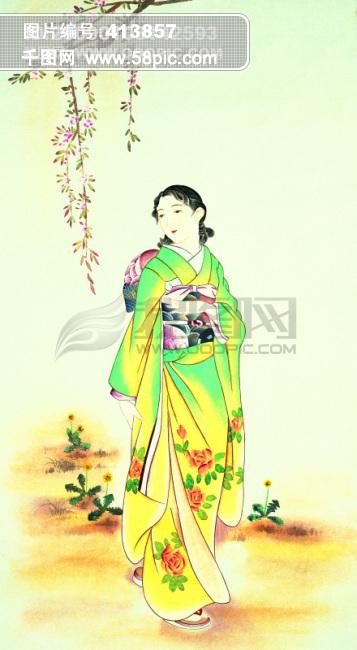 古画 唐朝宫廷美女