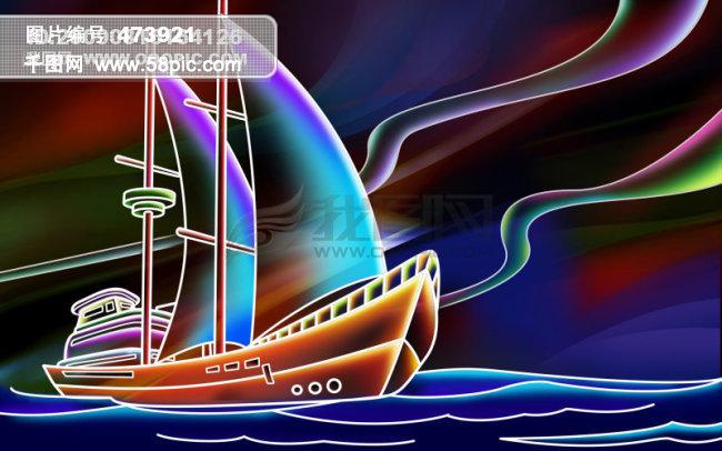 手绘帆船免费下载 手绘帆船