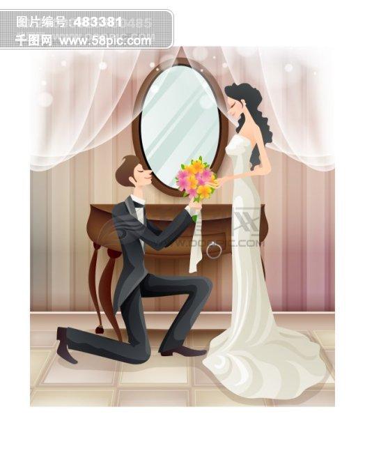 可爱的卡通求婚图片
