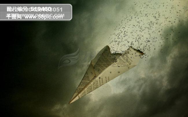 坠落的纸飞机图片素材免费下载-千图网www.58pic.com