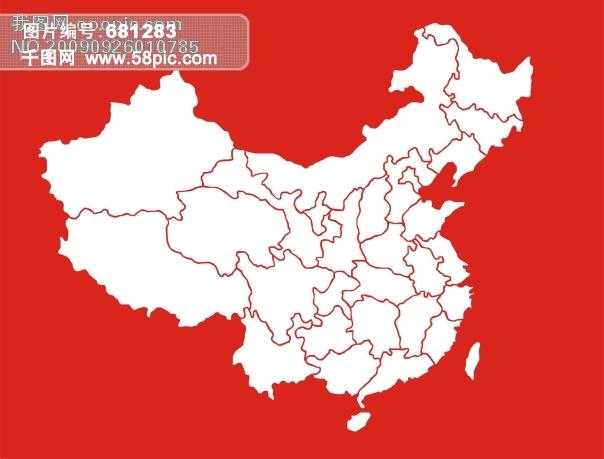 高清 中国平面地图