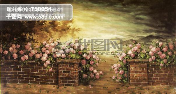 超真实手绘背景图免费下载 影楼实景手绘背景图 喜欢拿去吧