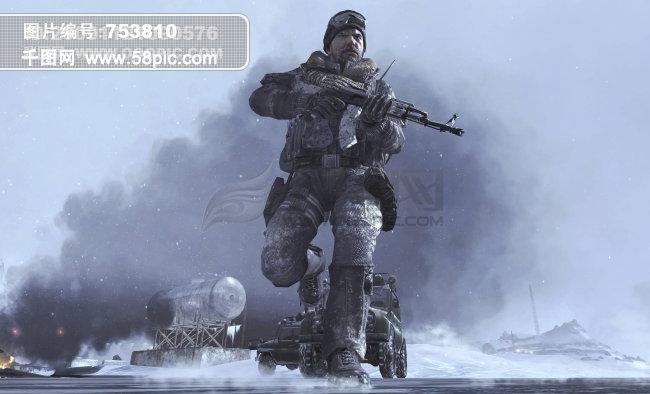 强悍 军人 大兵 游戏中的人物 硝烟 战场