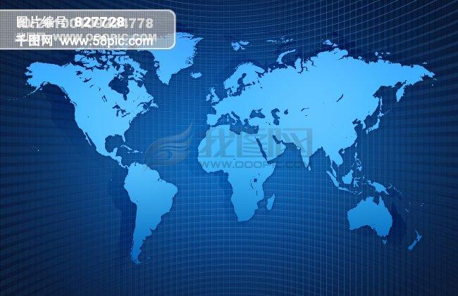 世界地图地球素材高清桌面壁纸蓝色图片图标