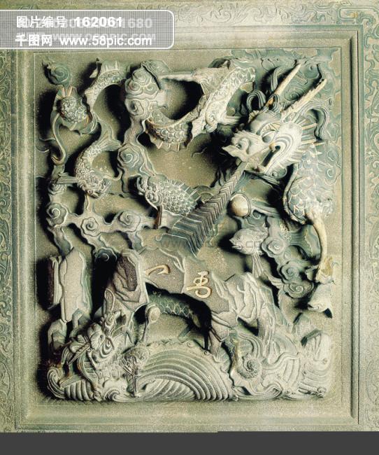 神话 石狮 壁画图片