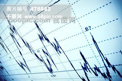 股票曲线图图片素材