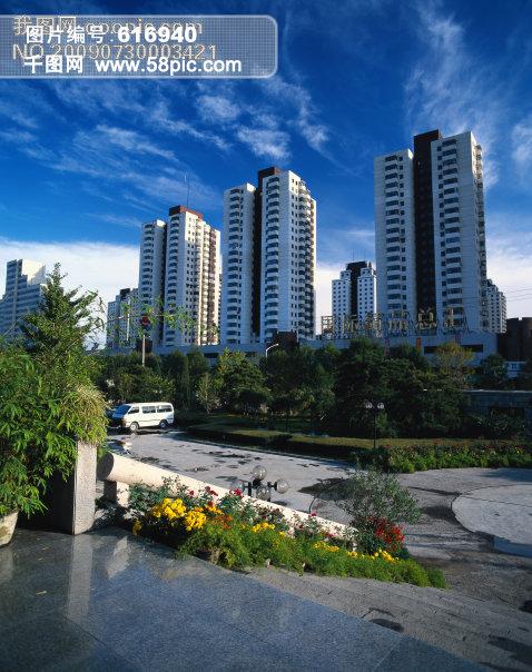 城市风景 城市风光 高楼大厦 建筑物 园林