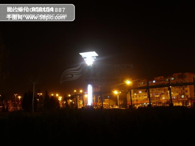 夜晚路灯摄影图片素材免费-千图网www.58pic.com