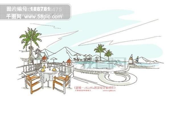 城市风景ii 卡通城市漫画手绘 hanmaker韩国设计素材库