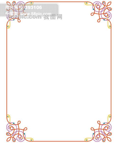 花边 古典边框 古典花纹 欧式花纹 欧式边框 边框花纹 黑板报边框
