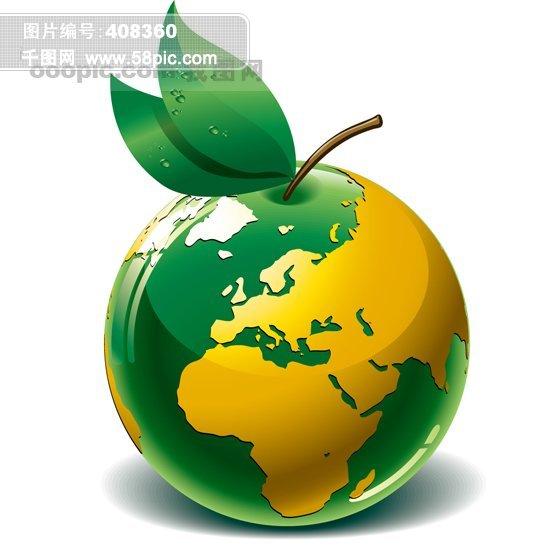 地球 绿色地球 立体地球