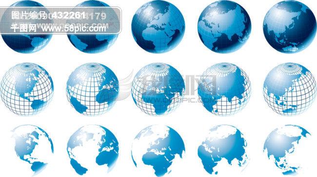 地球 线路 球形 地图