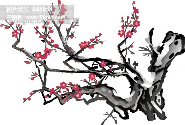 梅花矢量图免费下载-千图网www.58pic.com