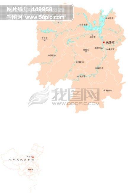 湖南地�_湖南省全省地图