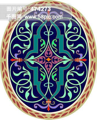 维多利亚风格精致装饰花纹图案22