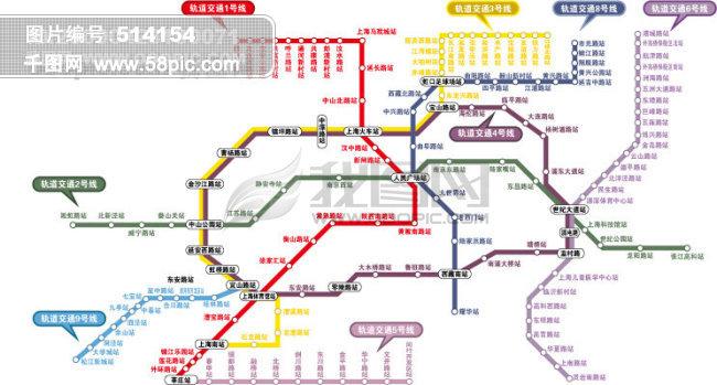 上海轨道交通图 上海2008年最新轨道交通图 全手工eps文件 上海地铁
