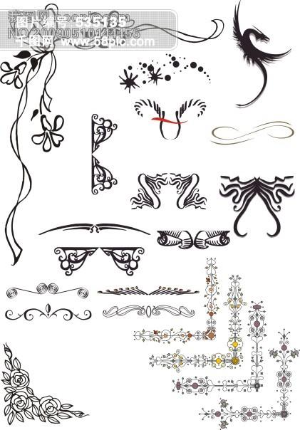 法式风格 花纹 花边素材图片