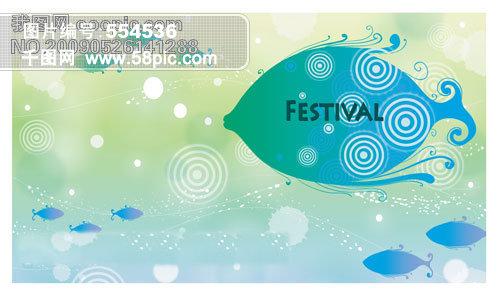 鱼形图案家居装饰素材免费下载-千图网www.58pic.com图片