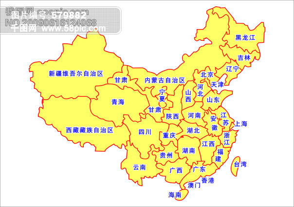 中国地图矢量图免费下载-千图网www.58pic.com