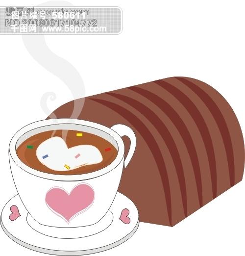 咖啡和面包矢量图免费下载-千图网www.58pic.com