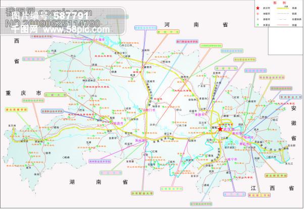 湖北省交通-矢量地图