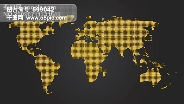 世界地图矢量图