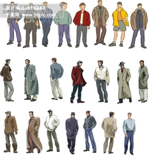 男性衣服.卡通