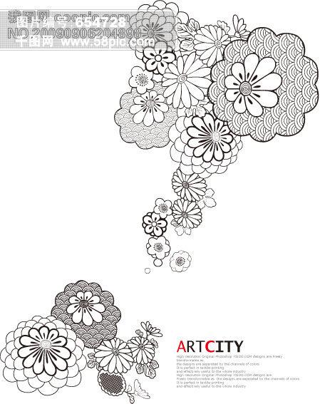 花纹 背景 矢量 边框素材|相框素材 矢量花纹 花 花边 韩国花纹 玻璃
