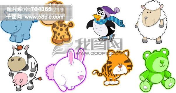 动物卡通形象素材