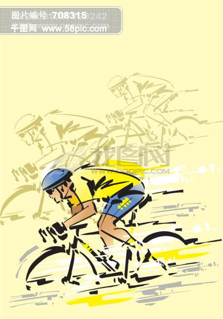 自行车运动员矢量背景