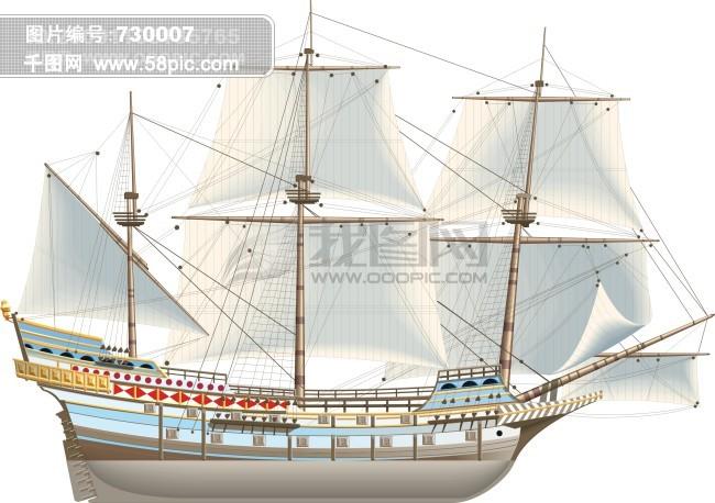 古代帆船的结构图解