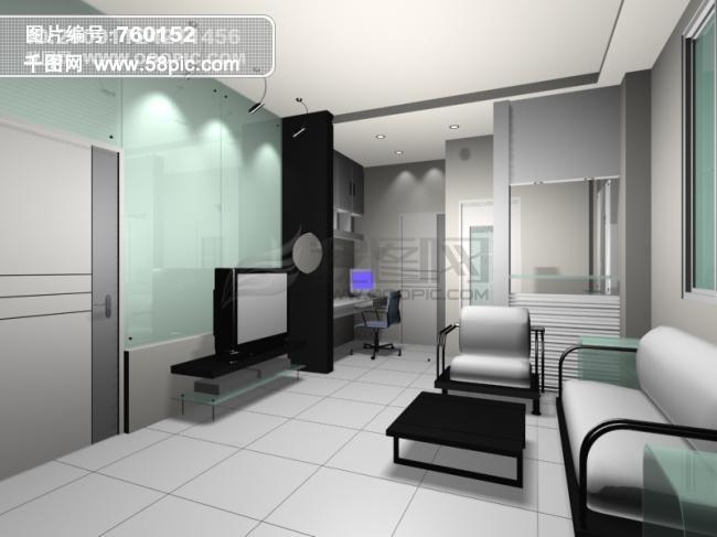 3d家庭客厅设计