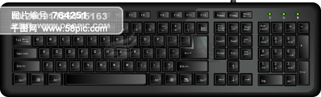 手绘矢量键盘