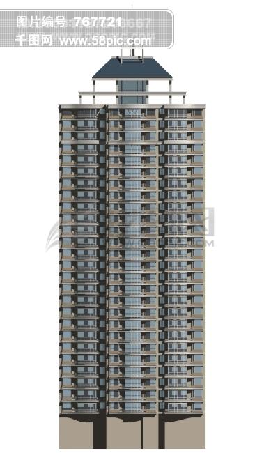 3d高层楼房