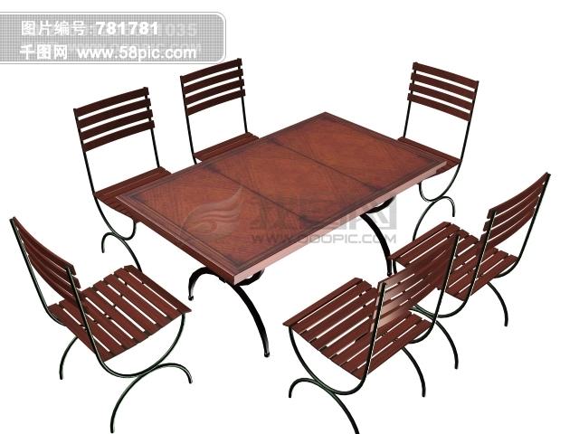 3d桌子椅子