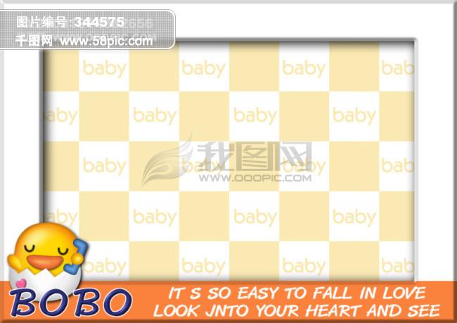 可爱卡通相框模板psd素材免费下载-千图网www.58pic