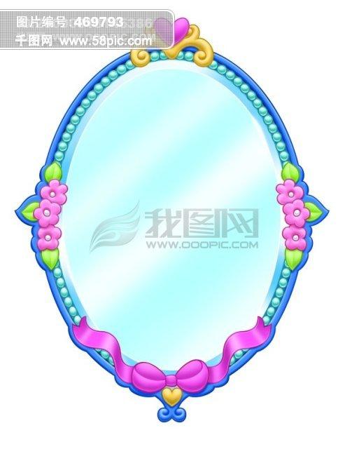 可爱 卡通 公主 镜子 欧式镜子 高贵 花
