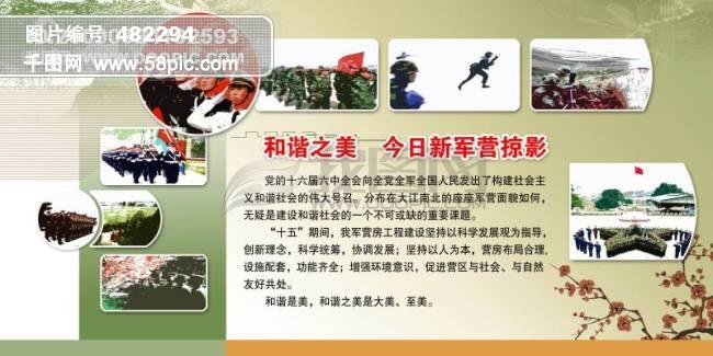 新军营精彩部队宣传展板_部队展板模板psd素材免费-千