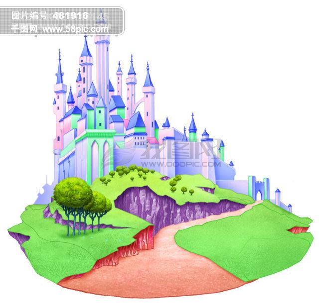 迪士尼 睡美人公主 城堡 梦幻 卡通