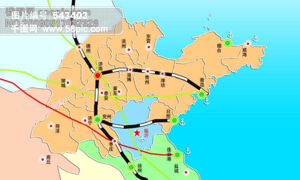 山东省铁路地图