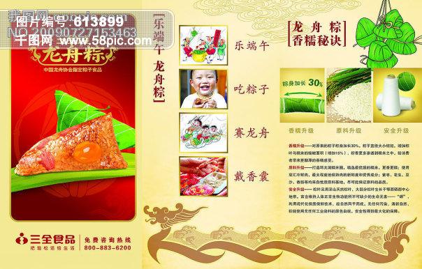 龙 蒋雯丽代言 三全凌龙舟棕包装袋 三全凌龙舟棕包装盒 广告设计模板