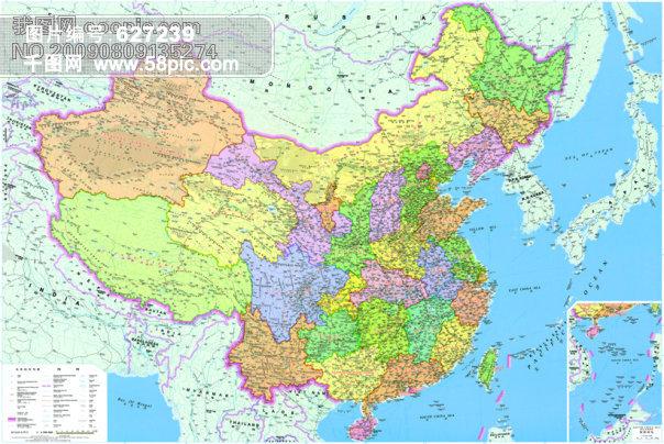 中国地图 大图片