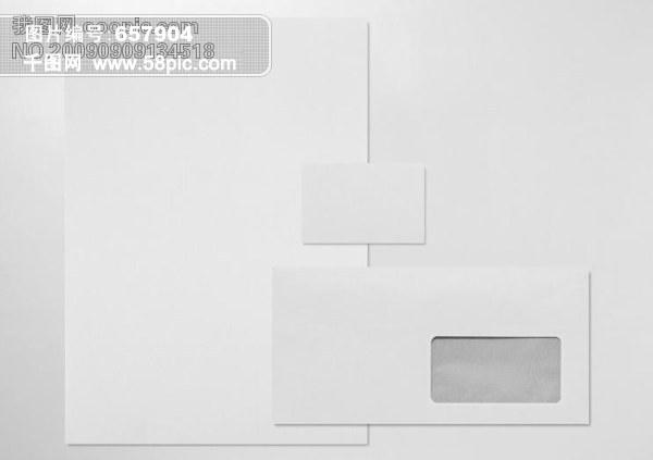 模板,信纸,信封,名片,分层