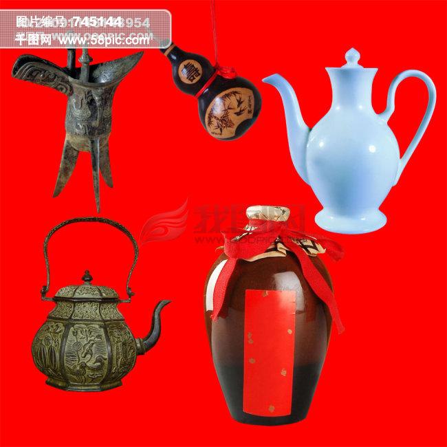 中国古代酒具psd图片