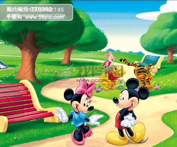 儿童乐园 卡通场景