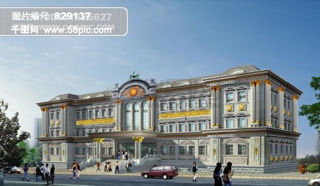 欧式建筑设计图psd素材免费下载-千图网www.58pic